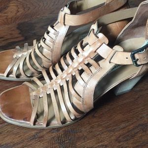 Paul green leather sandals